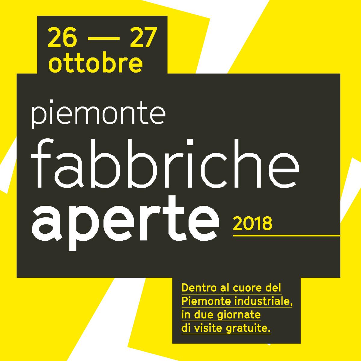 Piemonte Fabbriche Aperte – 26th and 27th October 2018